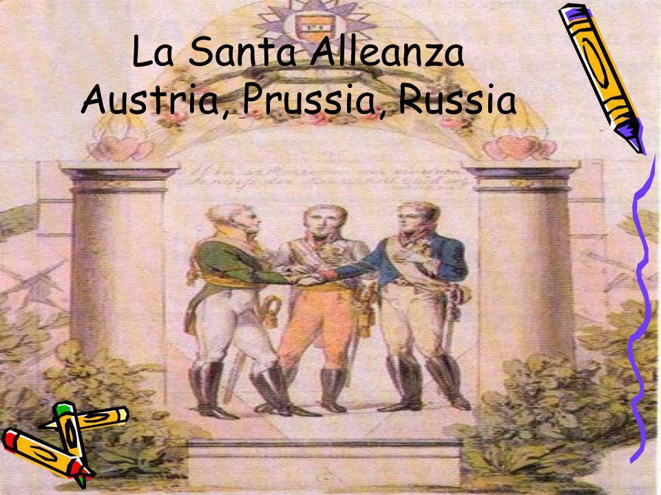 La Santa Alleanza Austria, Prussia, Russia