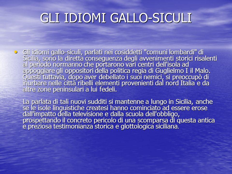 GLI IDIOMI GALLO-SICULI