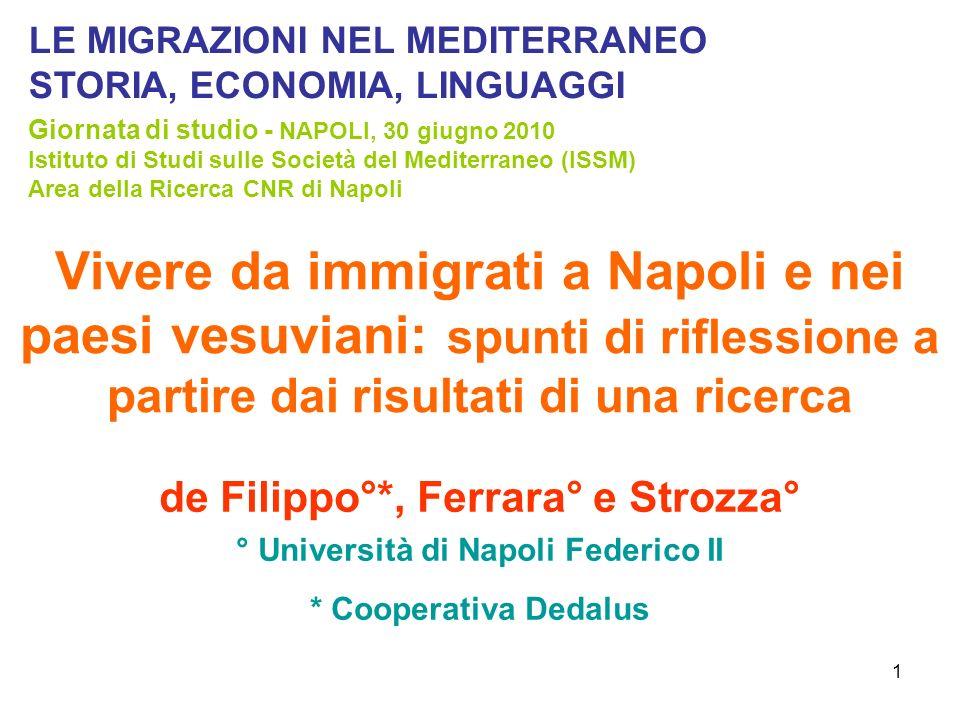 de Filippo°*, Ferrara° e Strozza° ° Università di Napoli Federico II