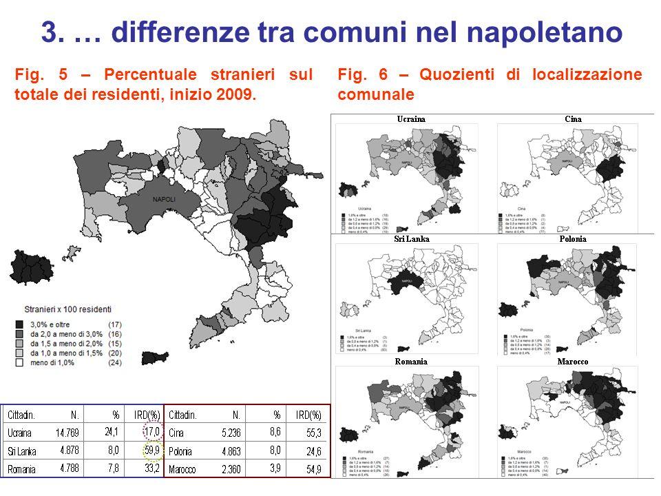 3. … differenze tra comuni nel napoletano