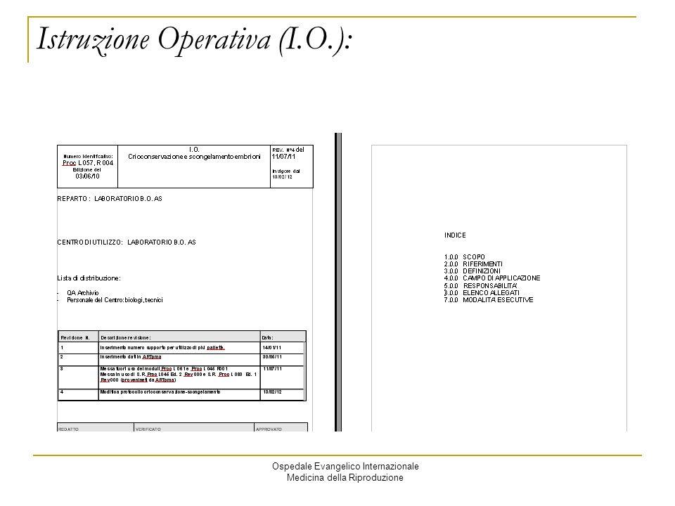 Istruzione Operativa (I.O.):