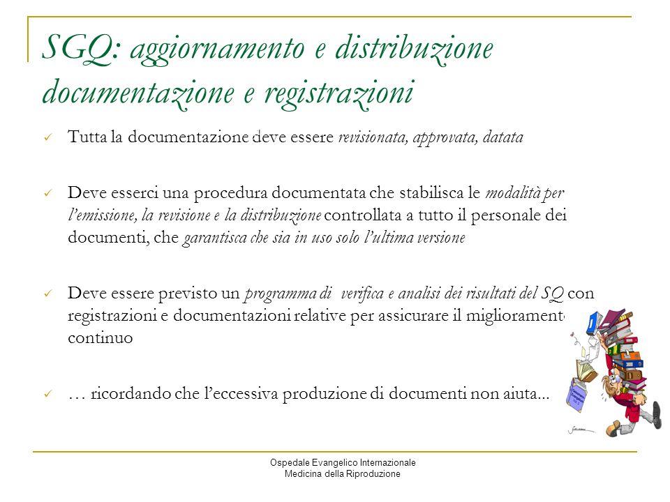 SGQ: aggiornamento e distribuzione documentazione e registrazioni