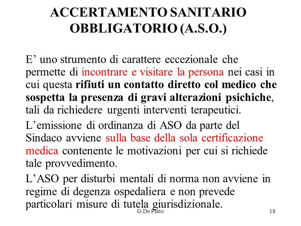 ACCERTAMENTO SANITARIO OBBLIGATORIO (A.S.O.)