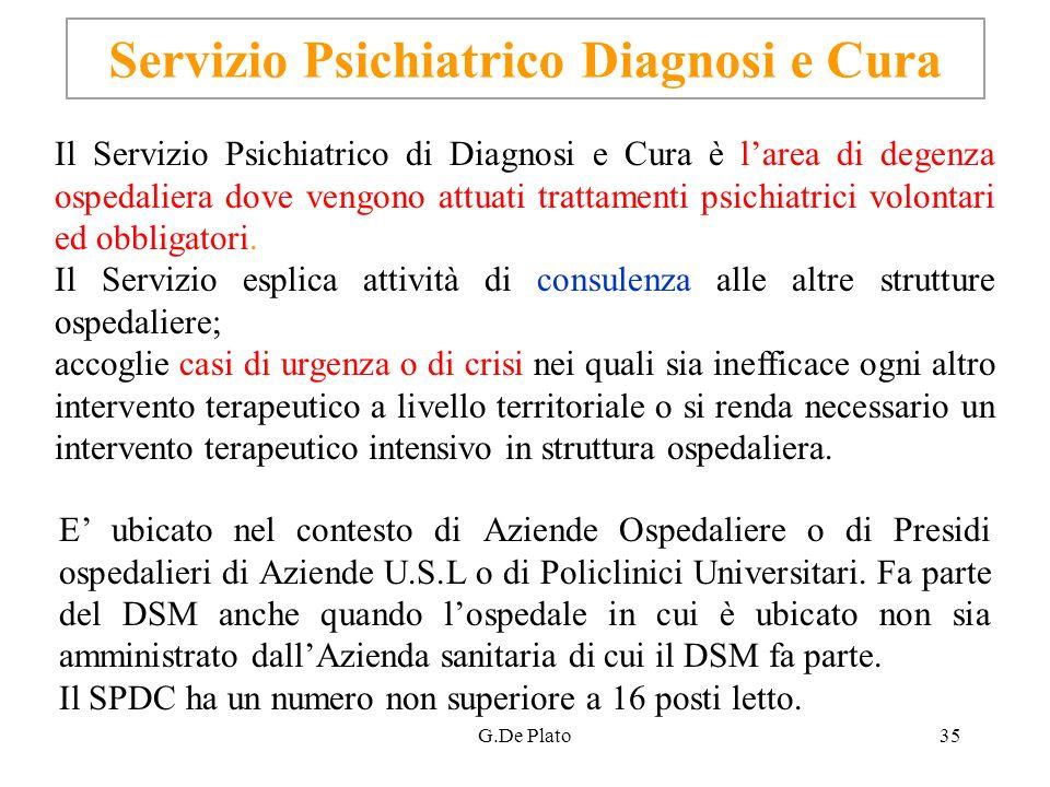 Servizio Psichiatrico Diagnosi e Cura