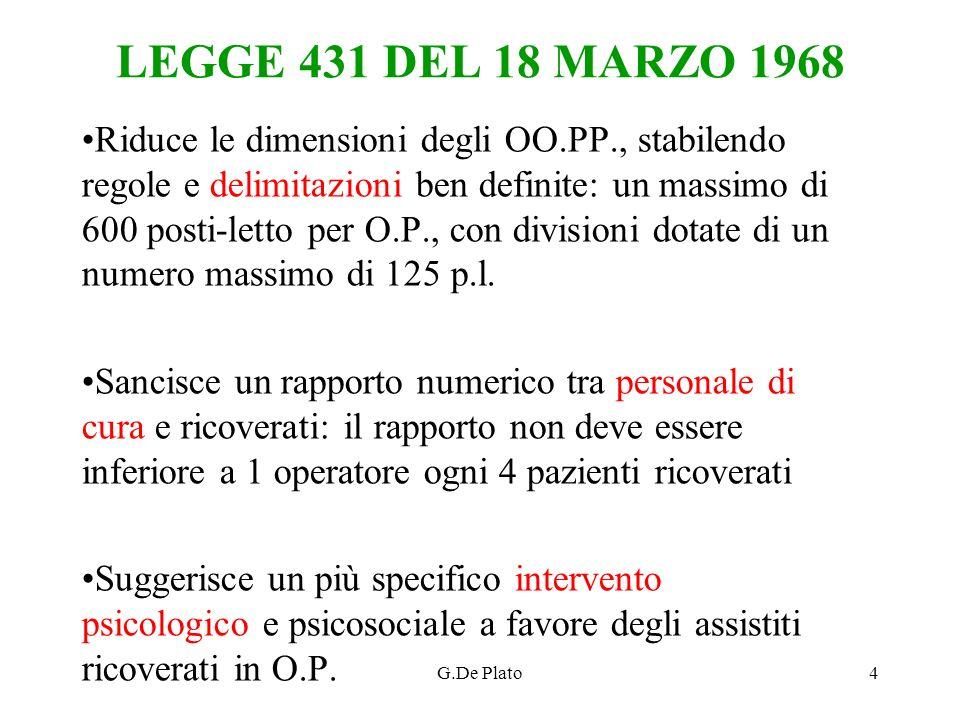 LEGGE 431 DEL 18 MARZO 1968