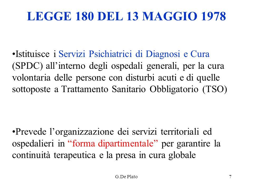 LEGGE 180 DEL 13 MAGGIO 1978
