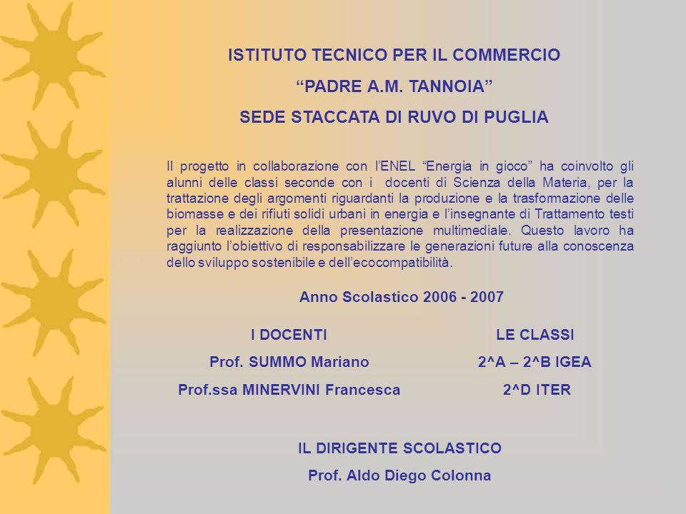 ISTITUTO TECNICO PER IL COMMERCIO PADRE A.M. TANNOIA
