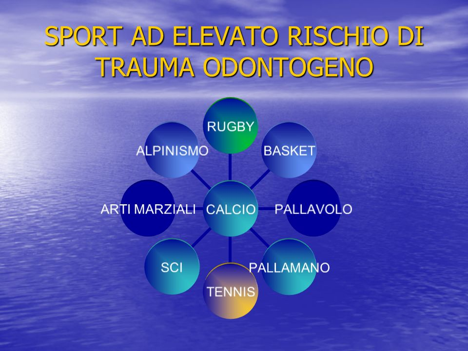 SPORT AD ELEVATO RISCHIO DI TRAUMA ODONTOGENO