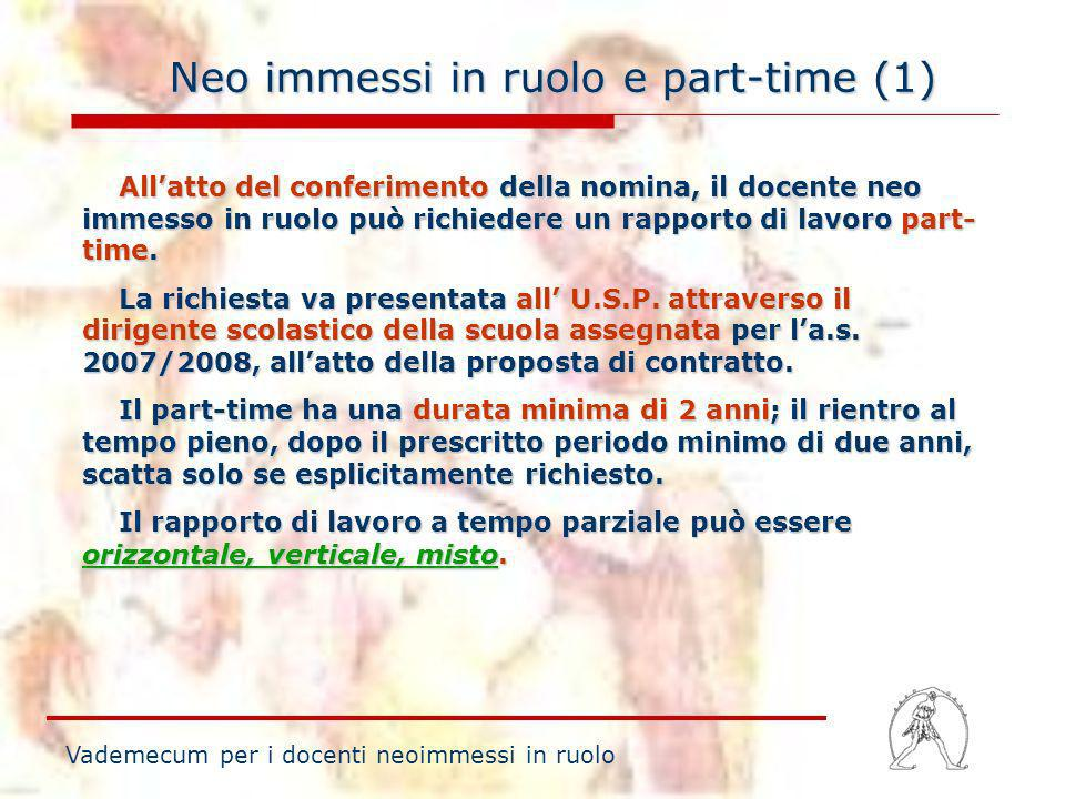 Neo immessi in ruolo e part-time (1)