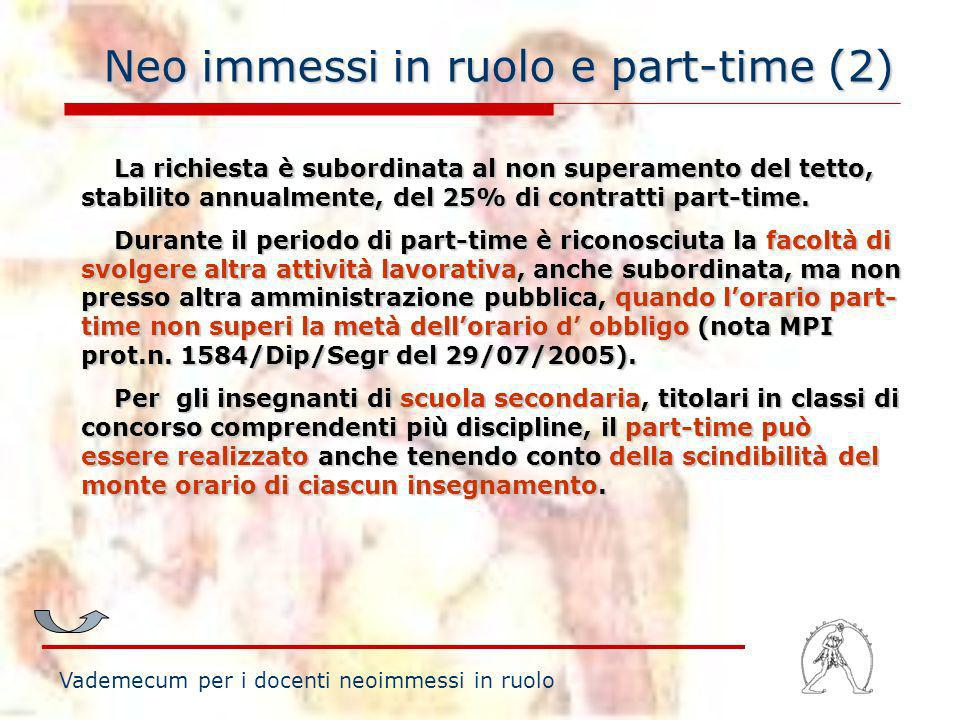 Neo immessi in ruolo e part-time (2)