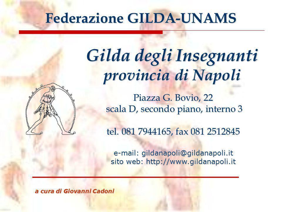 Federazione GILDA-UNAMS Gilda degli Insegnanti provincia di Napoli