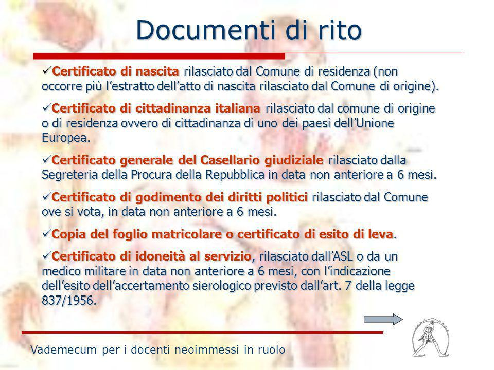 Documenti di rito