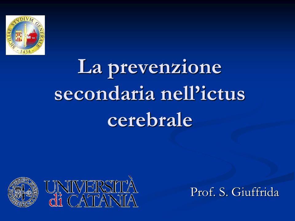 La prevenzione secondaria nell'ictus cerebrale