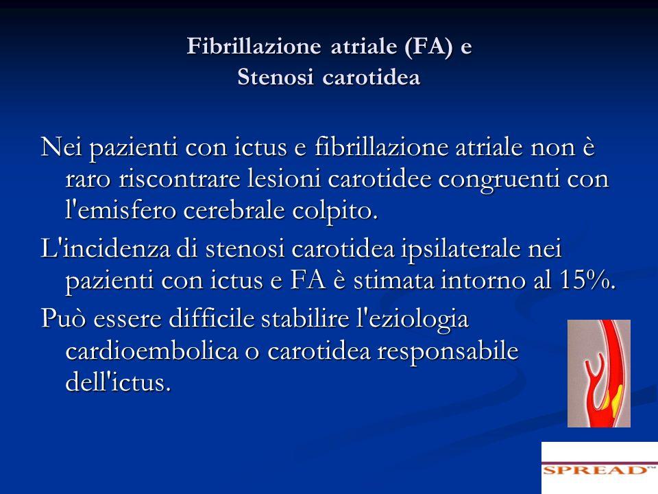Fibrillazione atriale (FA) e Stenosi carotidea