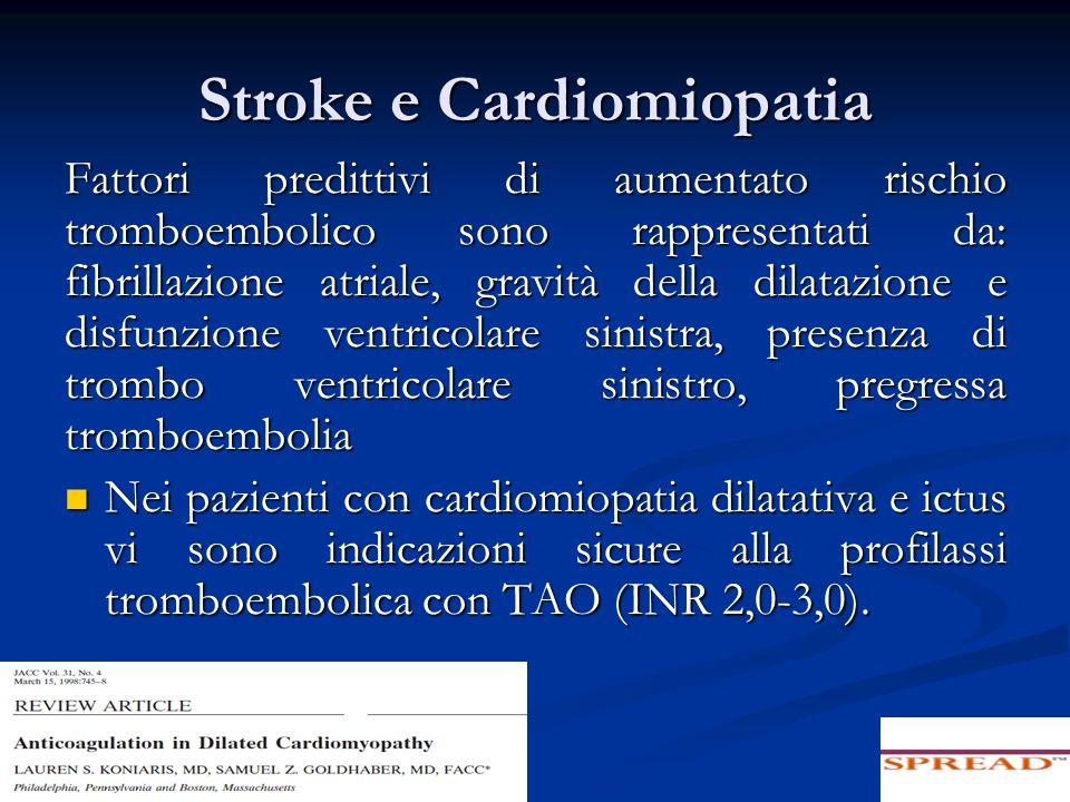 Stroke e Cardiomiopatia