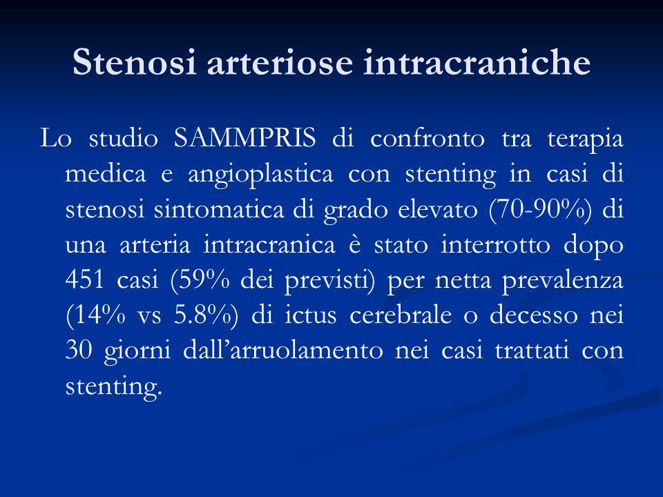 Stenosi arteriose intracraniche