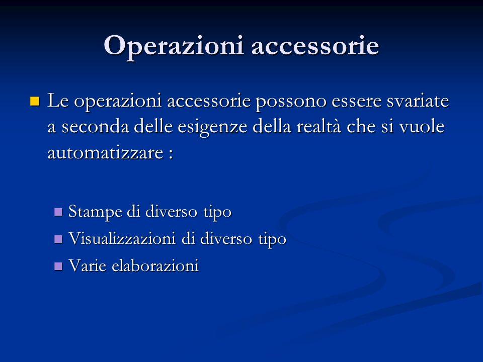 Operazioni accessorie