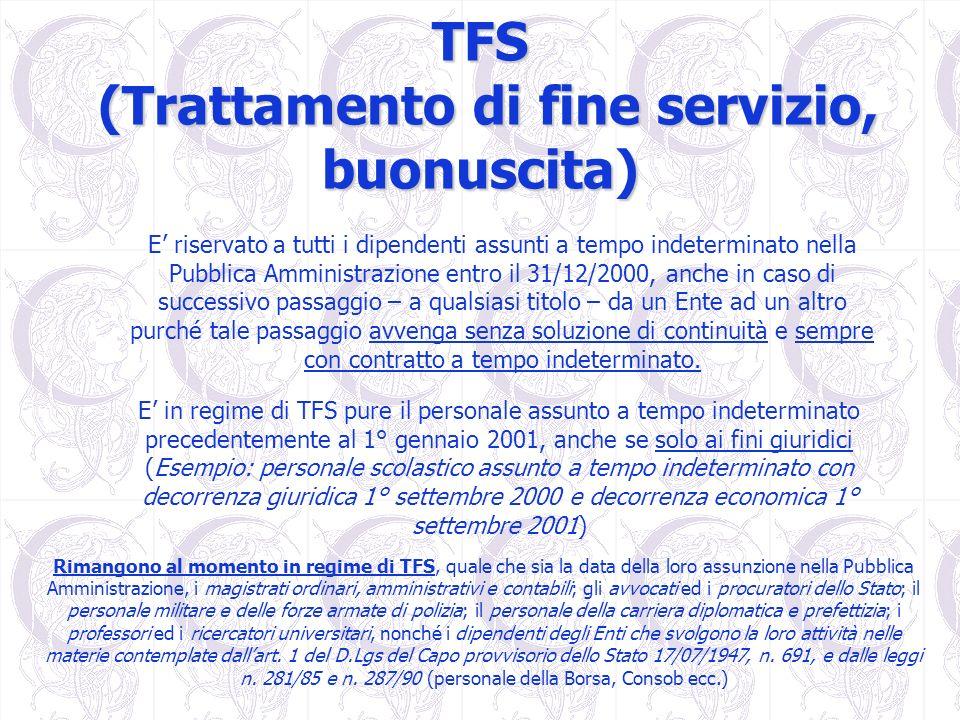 TFS (Trattamento di fine servizio, buonuscita)