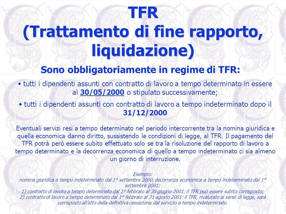 TFR (Trattamento di fine rapporto, liquidazione)