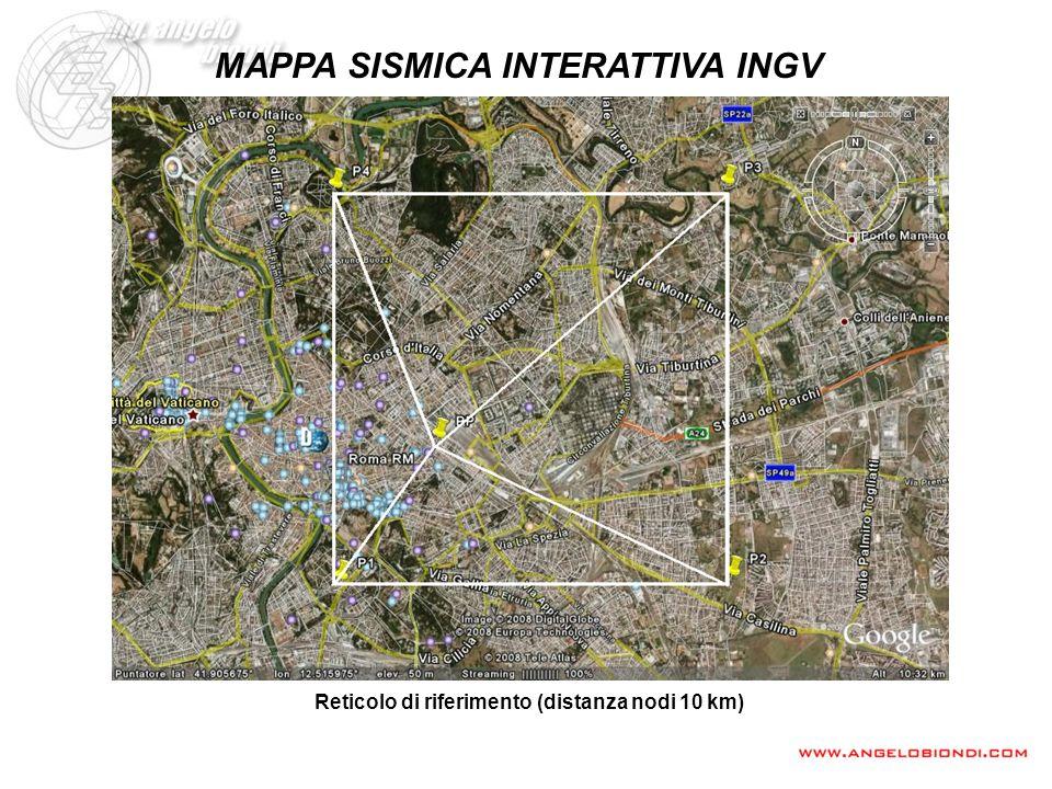 MAPPA SISMICA INTERATTIVA INGV