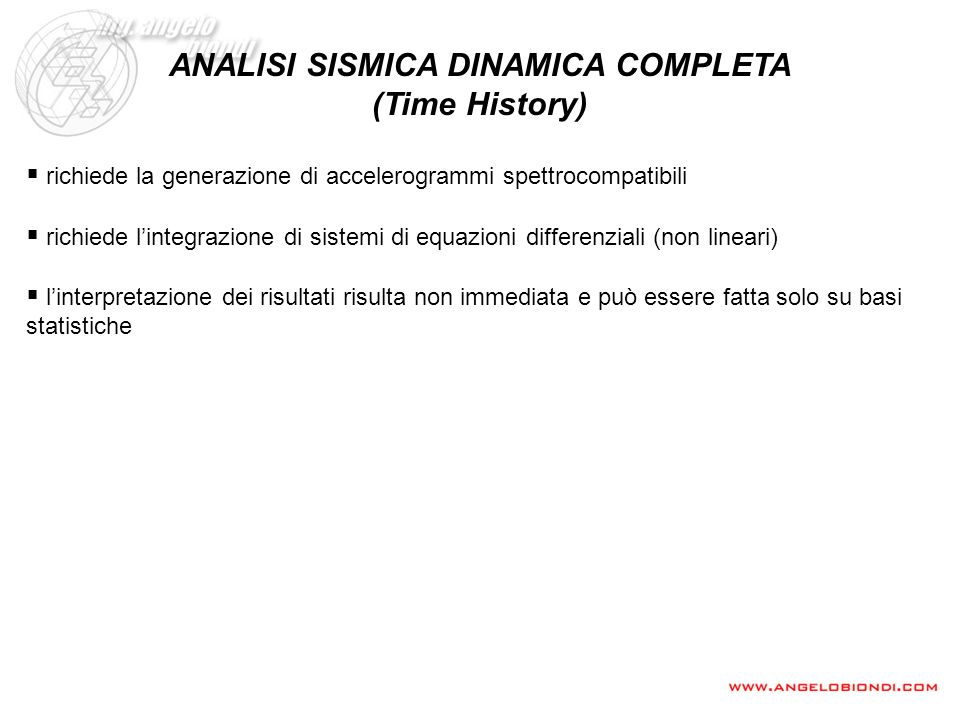 ANALISI SISMICA DINAMICA COMPLETA (Time History)