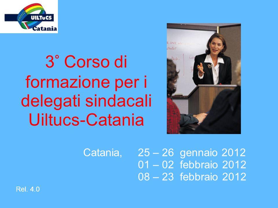 3° Corso di formazione per i delegati sindacali Uiltucs-Catania