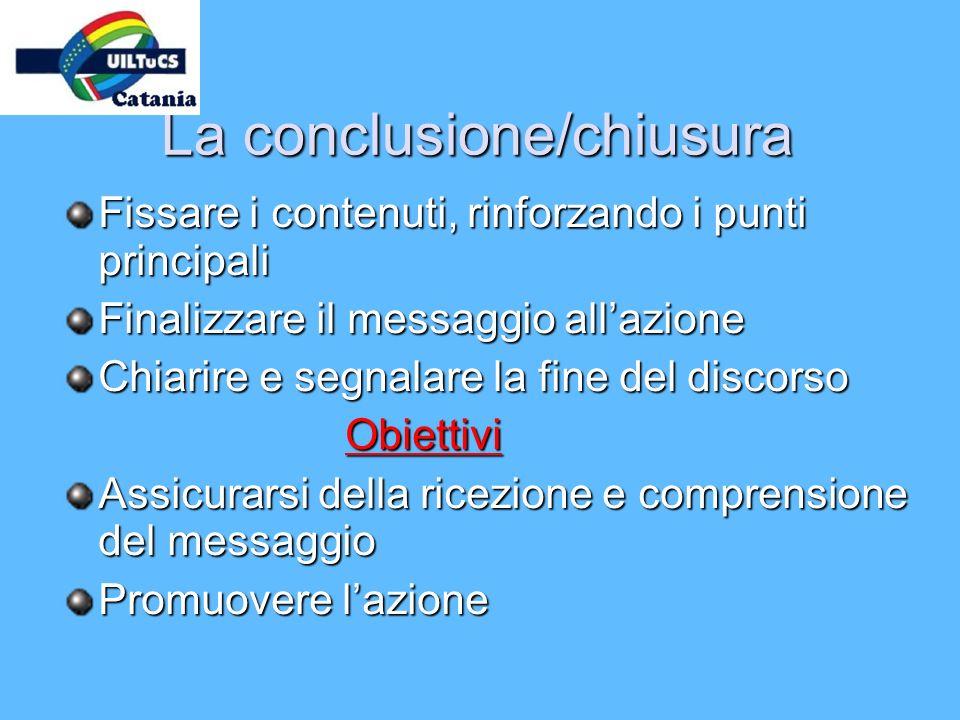 La conclusione/chiusura