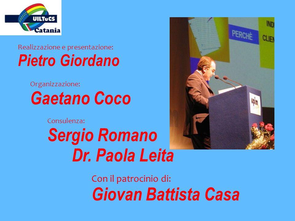 Gaetano Coco Sergio Romano Dr. Paola Leita Giovan Battista Casa