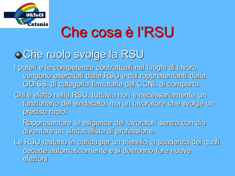 Che cosa è l'RSU Che ruolo svolge la RSU