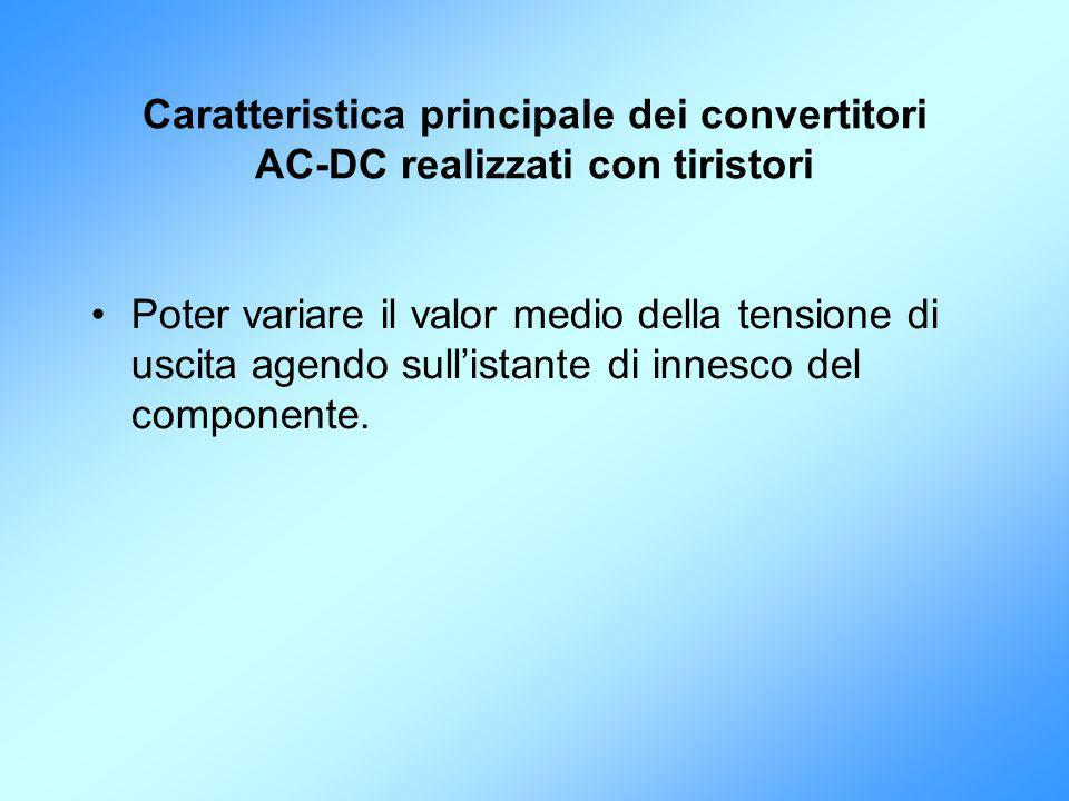 Caratteristica principale dei convertitori AC-DC realizzati con tiristori