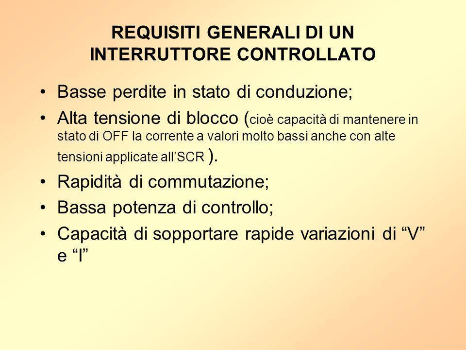 REQUISITI GENERALI DI UN INTERRUTTORE CONTROLLATO