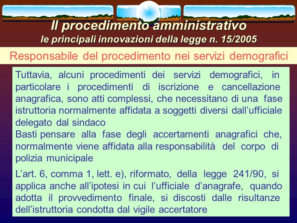 Il procedimento amministrativo le principali innovazioni della legge n