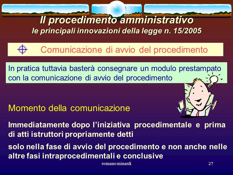Comunicazione di avvio del procedimento