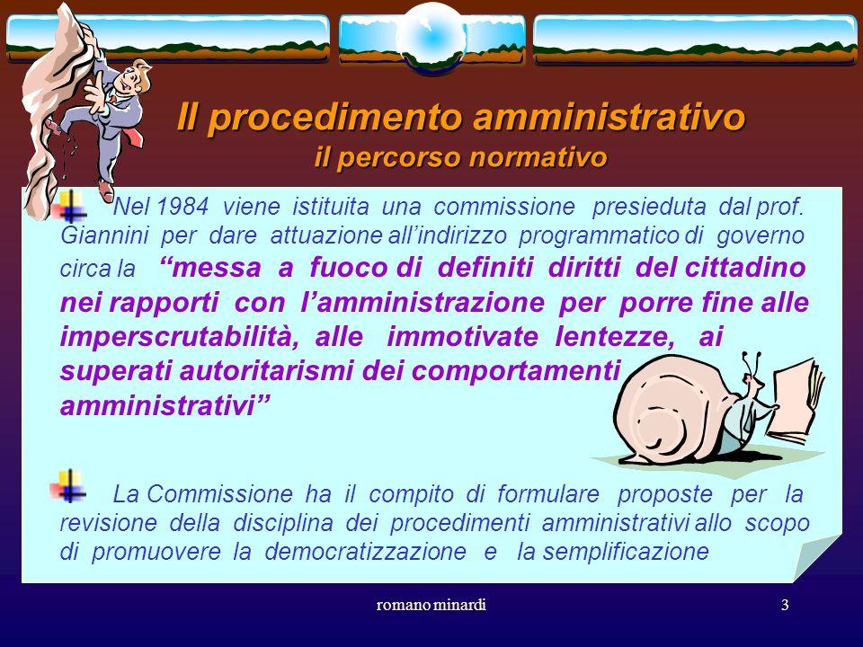 Il procedimento amministrativo il percorso normativo