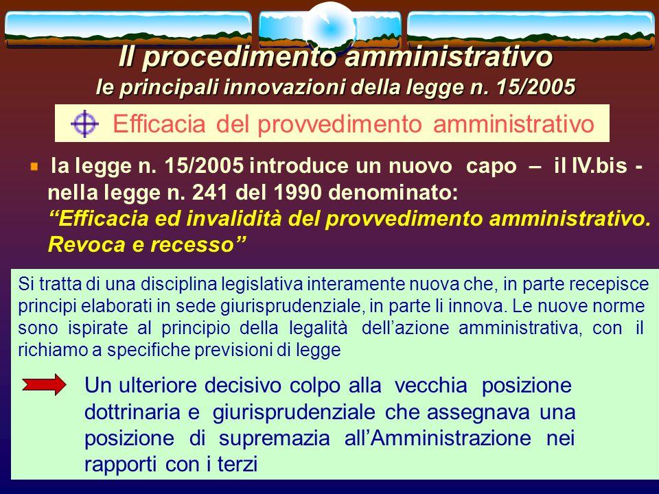 Efficacia del provvedimento amministrativo