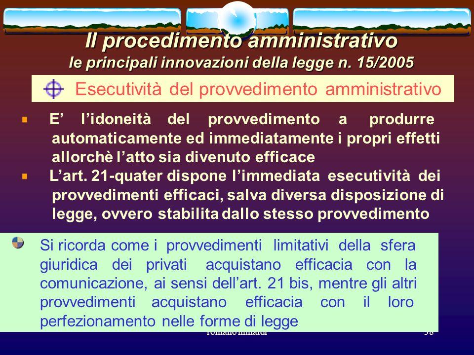 Esecutività del provvedimento amministrativo