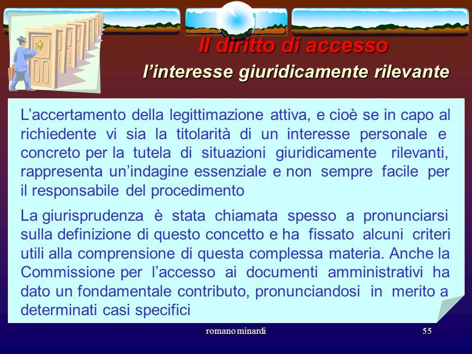 Il diritto di accesso l'interesse giuridicamente rilevante