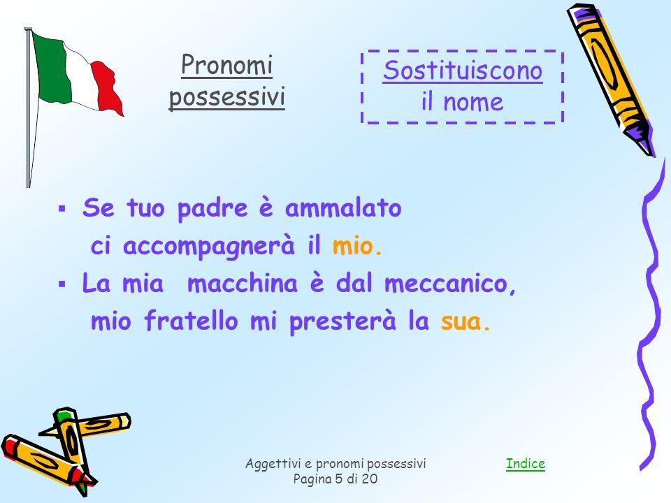Aggettivi e pronomi possessivi
