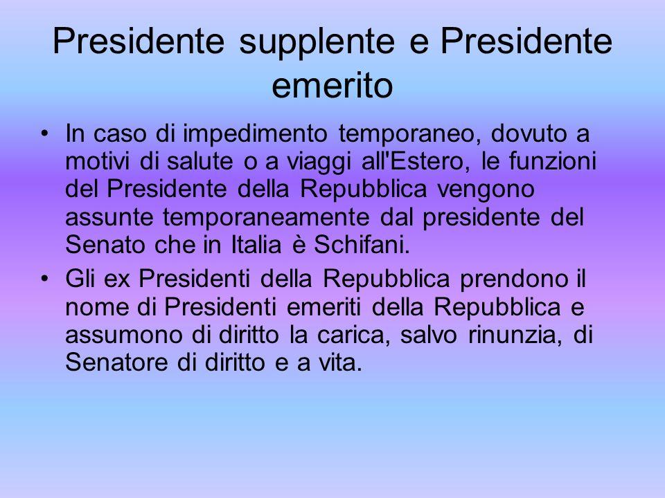 Presidente supplente e Presidente emerito