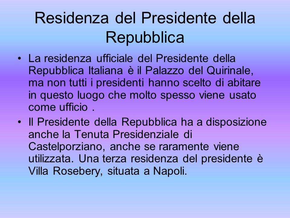 Residenza del Presidente della Repubblica