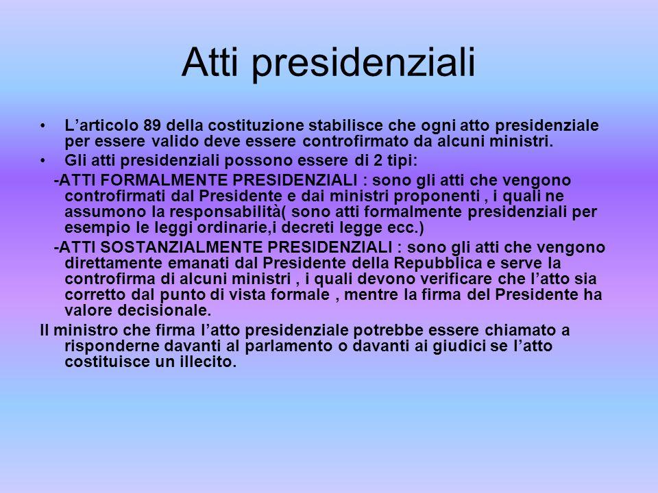 Atti presidenziali