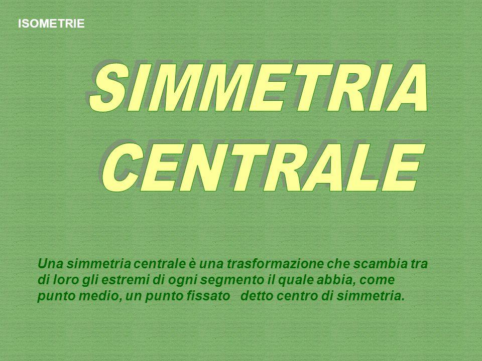 ISOMETRIE SIMMETRIA. CENTRALE.