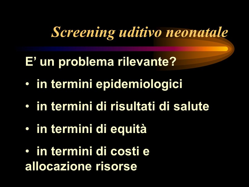 Screening uditivo neonatale