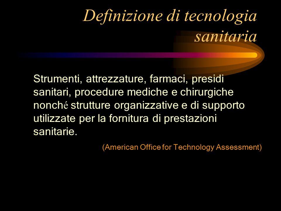 Definizione di tecnologia sanitaria