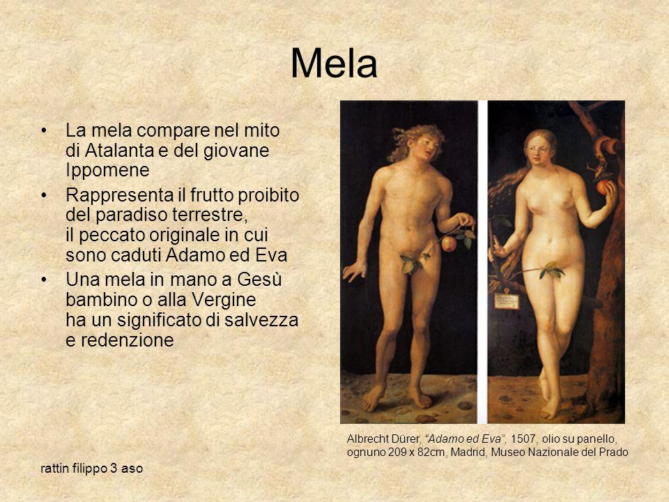 Mela La mela compare nel mito di Atalanta e del giovane Ippomene