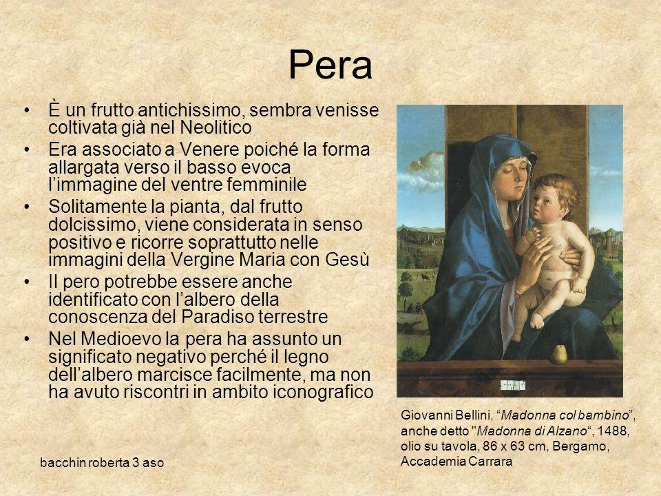 Pera È un frutto antichissimo, sembra venisse coltivata già nel Neolitico.