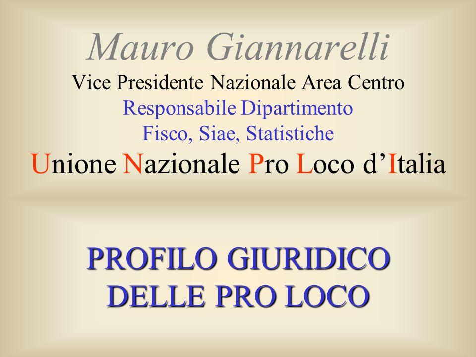 PROFILO GIURIDICO DELLE PRO LOCO