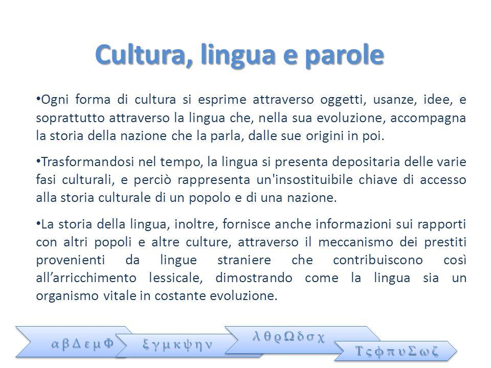 Cultura, lingua e parole