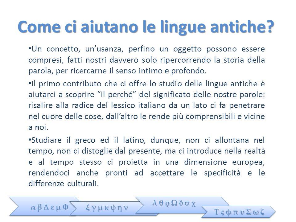 Come ci aiutano le lingue antiche