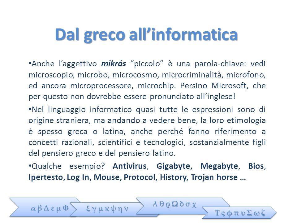 Dal greco all'informatica